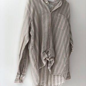 3/$50 Oat Linen Short Sleeve Blouse